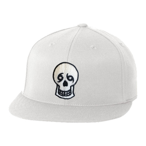 Skull Fitted Flat Bill (white)