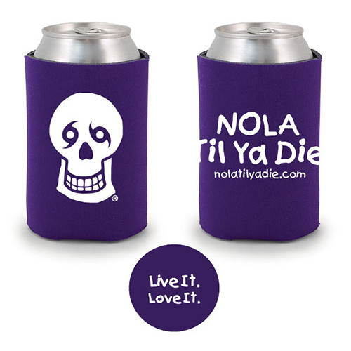 Logo Live It Love It Koozie (purple)