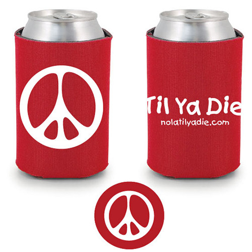 Peace TYD Koozie (red)