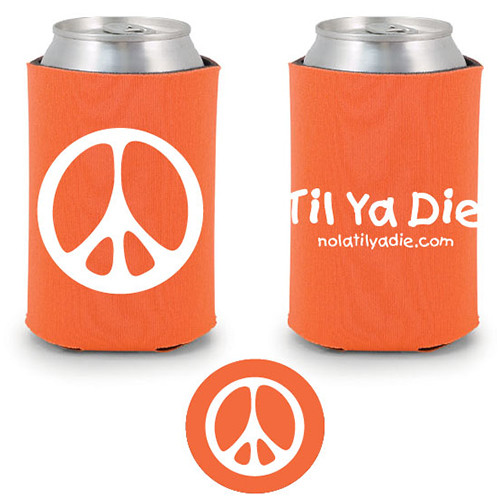 Peace TYD Koozie (orange)
