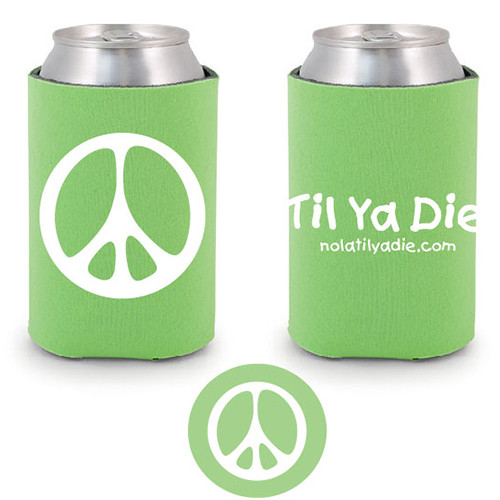 Peace TYD Koozie (green)
