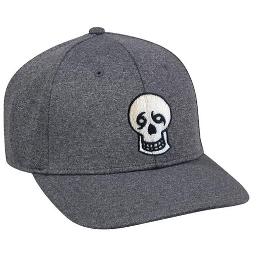 Skull Snapback Hat (charcoal)
