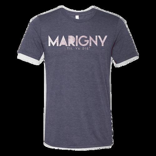 Marigny Til Ya Die Tee (navy heather)