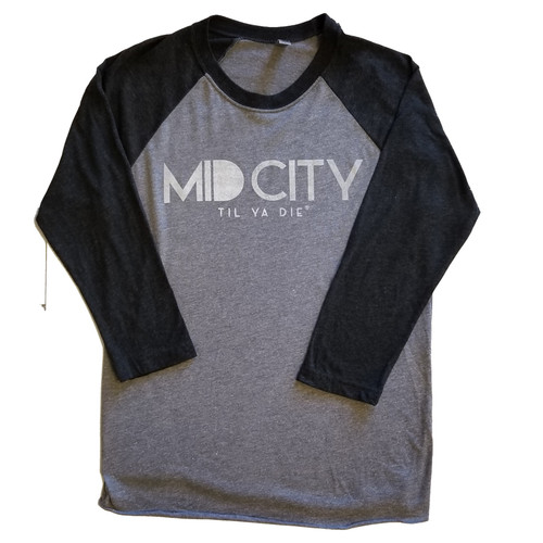 Mid City TYD 3/4 Sleeve (grey heather/black)