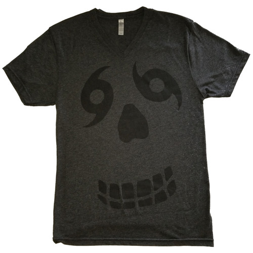 Face V-Neck (black heather/black)