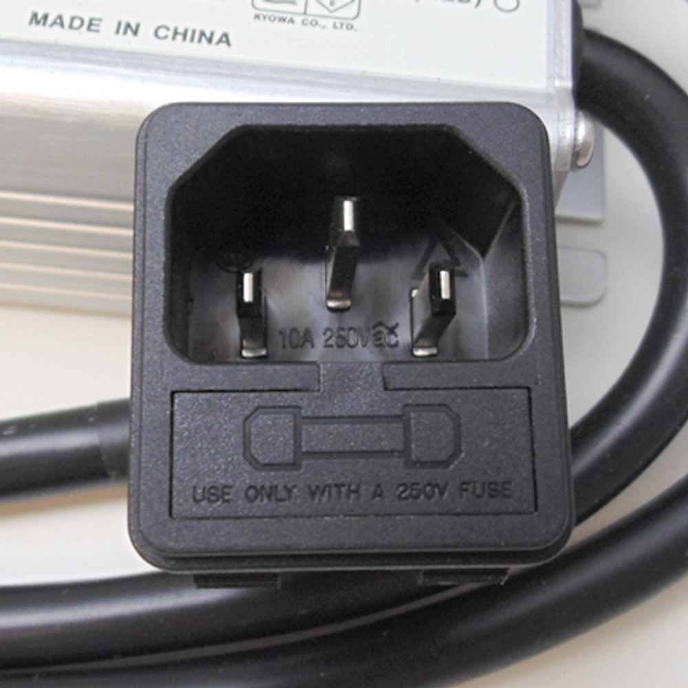 Fused 250V 10A power cord - pre-wired for safe operation.