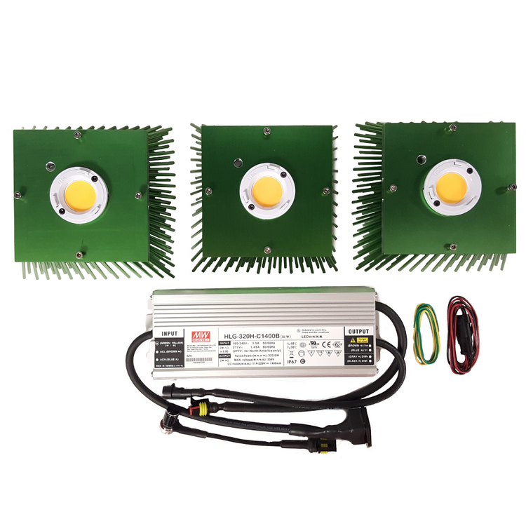 300 Watt Vero29 V7 (3) COB Grow Light Kit