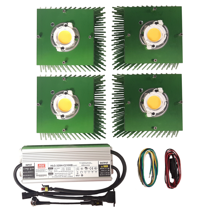 300 Watt Cree CXB3590 (4) COB Grow Light Kit