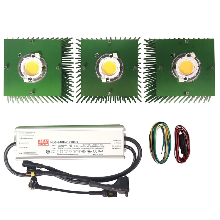 225 Watt Cree CXB3590 (3) COB Grow Light Kit