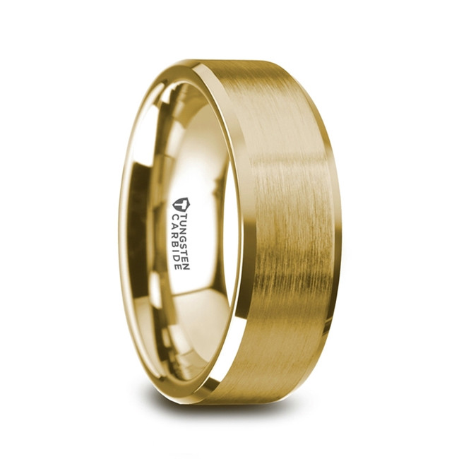 Brontes Gold Plated Tungsten Ring with Brushed Center from Vansweden Jewelers