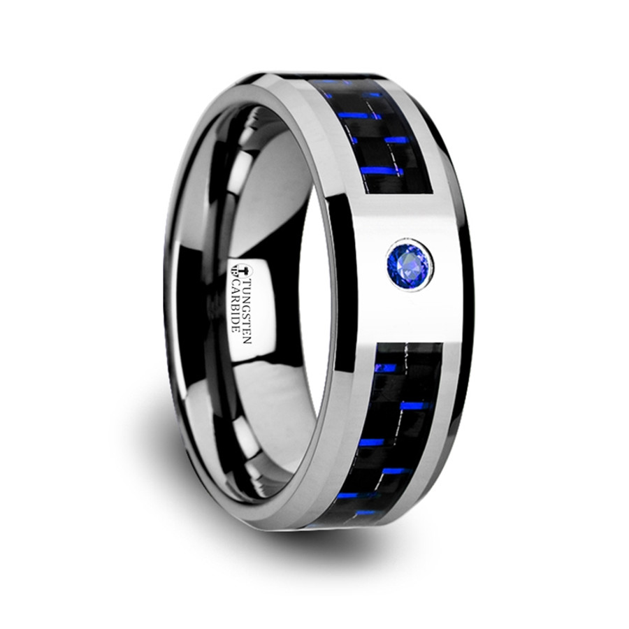 carbide inlay bright rings s silver set mens diamonds with polished channel and diamond band wedding tungsten men black