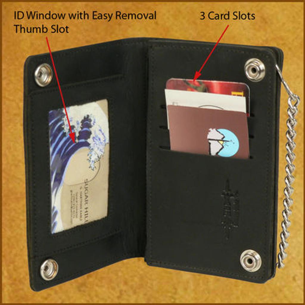 C-C Zip Chain Wallet w/ID Window