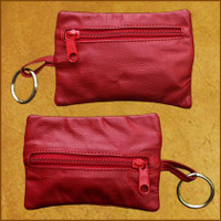 2 Zip Coin Purse w/Key Chain