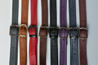 From left to right  Grey, Cognac, Red, Brown, Black, Purple, Navy Blue, Burgandy