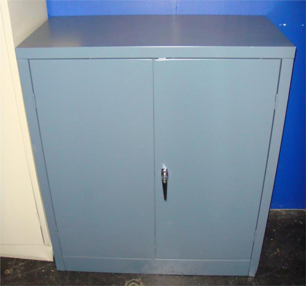 Used Three Shelf Metal Storage Cabinet & Used Three Shelf Metal Storage Cabinet - Orlando Office Furniture