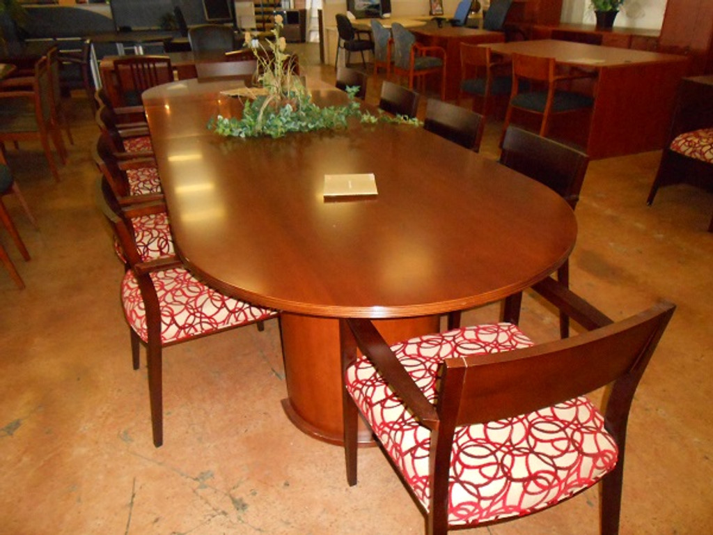12ft Racetrack Conference Table