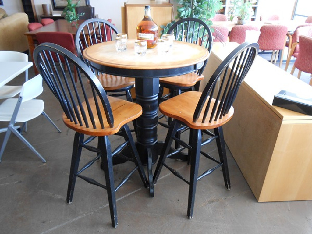 USED Counter Height Dining Table with Matching 3 Chairs