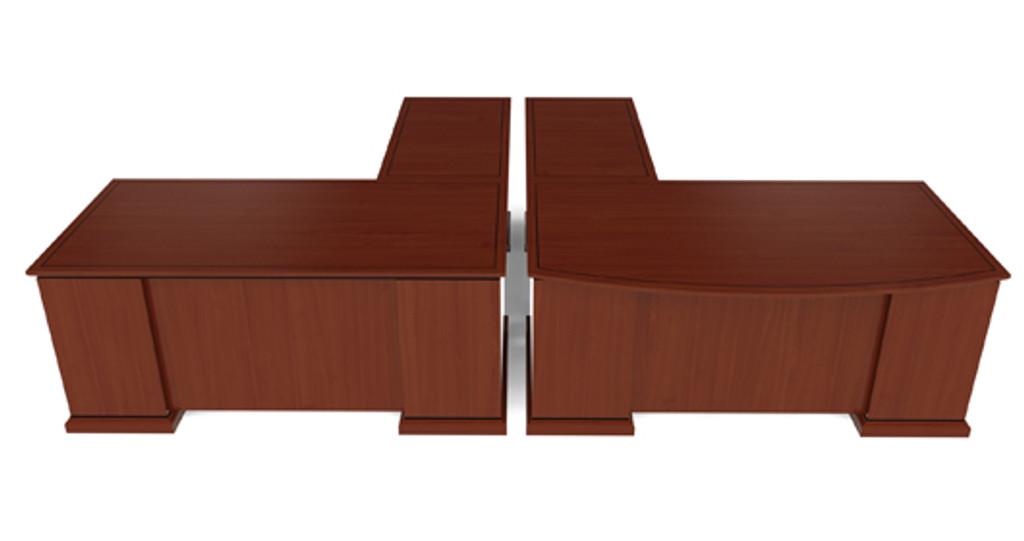 Cherryman Emerald Bowfront L-Desk (Left or Right)