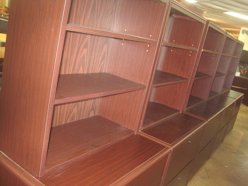 """""""National"""" 2 drawer Lateral w/Hutch"""