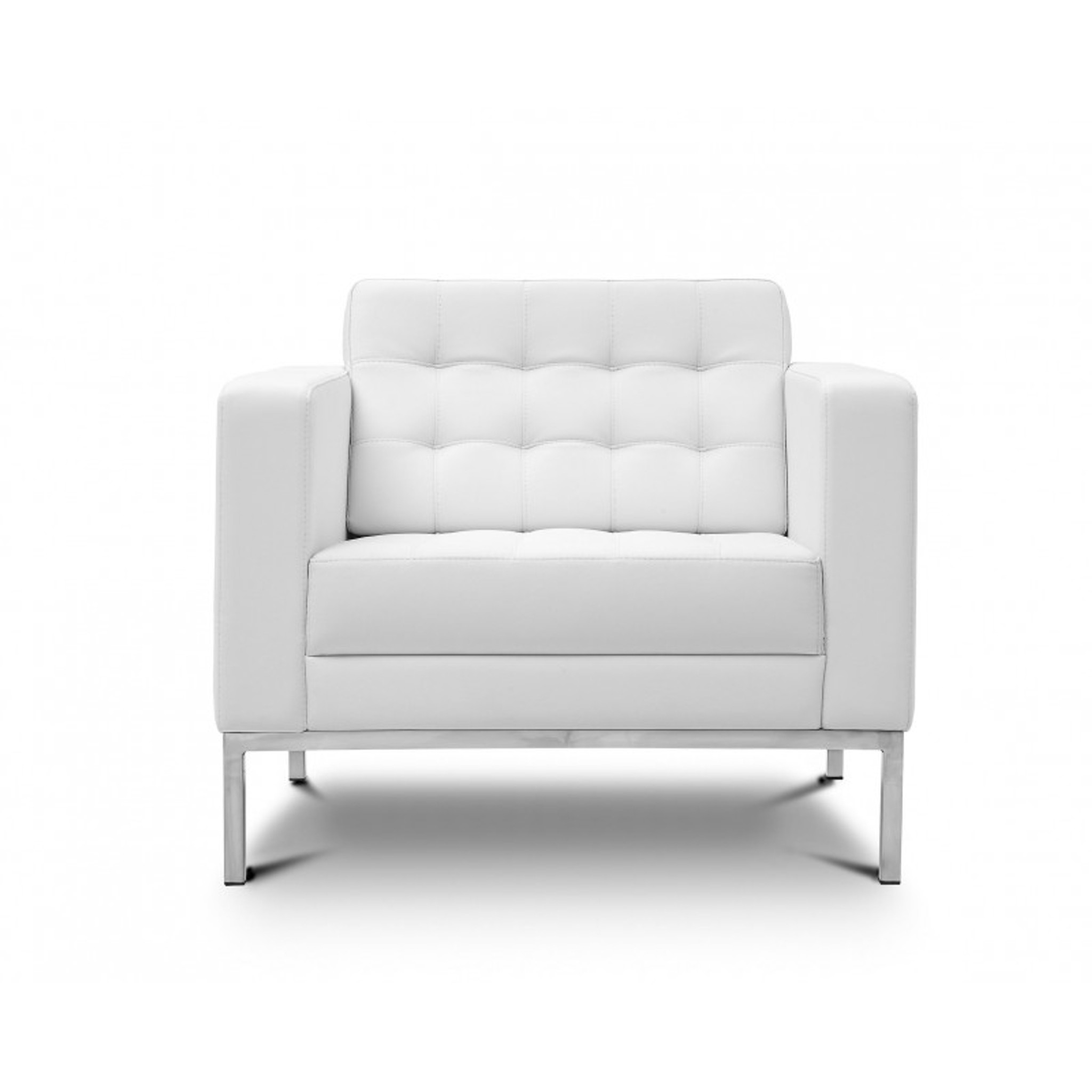 Piazza White Leather Lounge Chair  sc 1 st  Orlando Office Furniture & Piazza White Leather Lounge Chair - Orlando Office Furniture