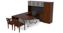 Cherryman Jade P-Shape U-Desk w/ Hutch & Wardrobe (Left & Right)