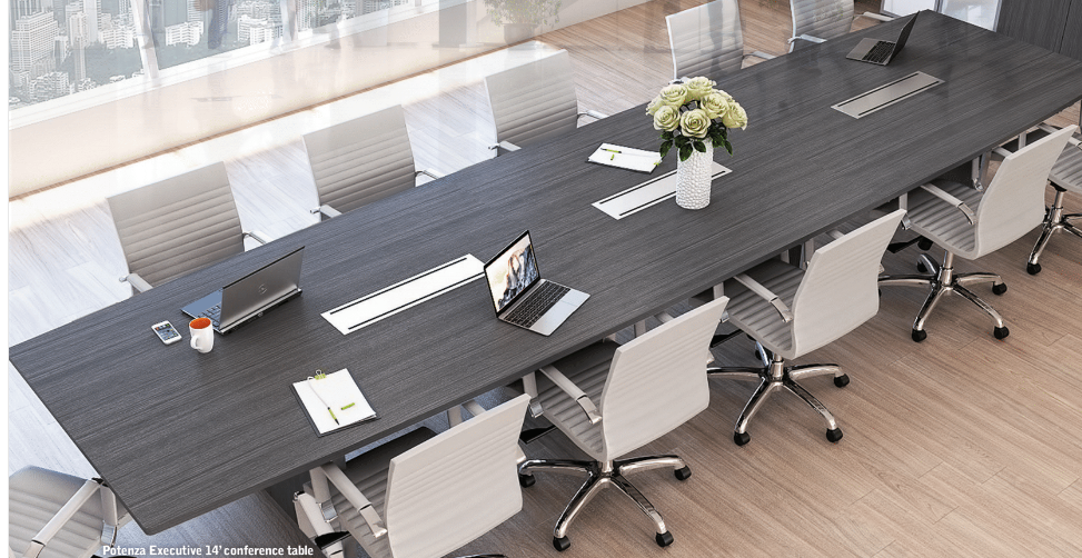 CorpDesign GRIGIO 14u0027 Executive Conference Table