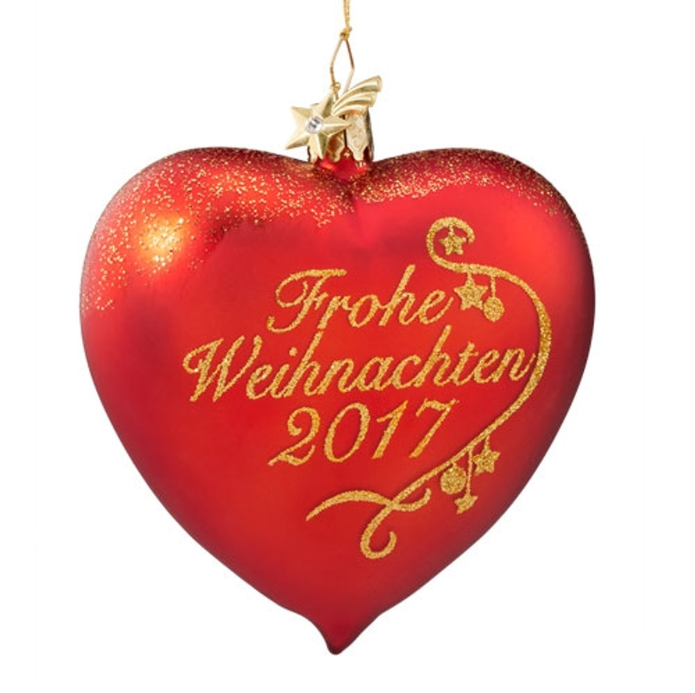 Frohe Weihnachten 2017 Glass Ornament