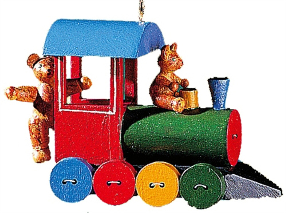 Button Train with Teddy Bears