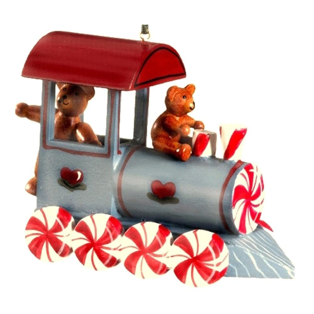 Peppermint Train with Teddy Bears