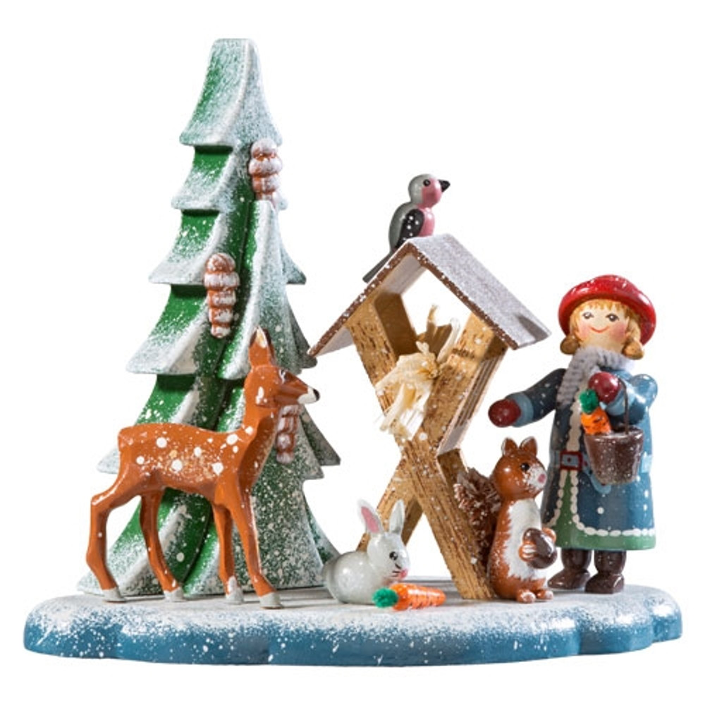 Feeding the Animals Winter Wonderland Figurine