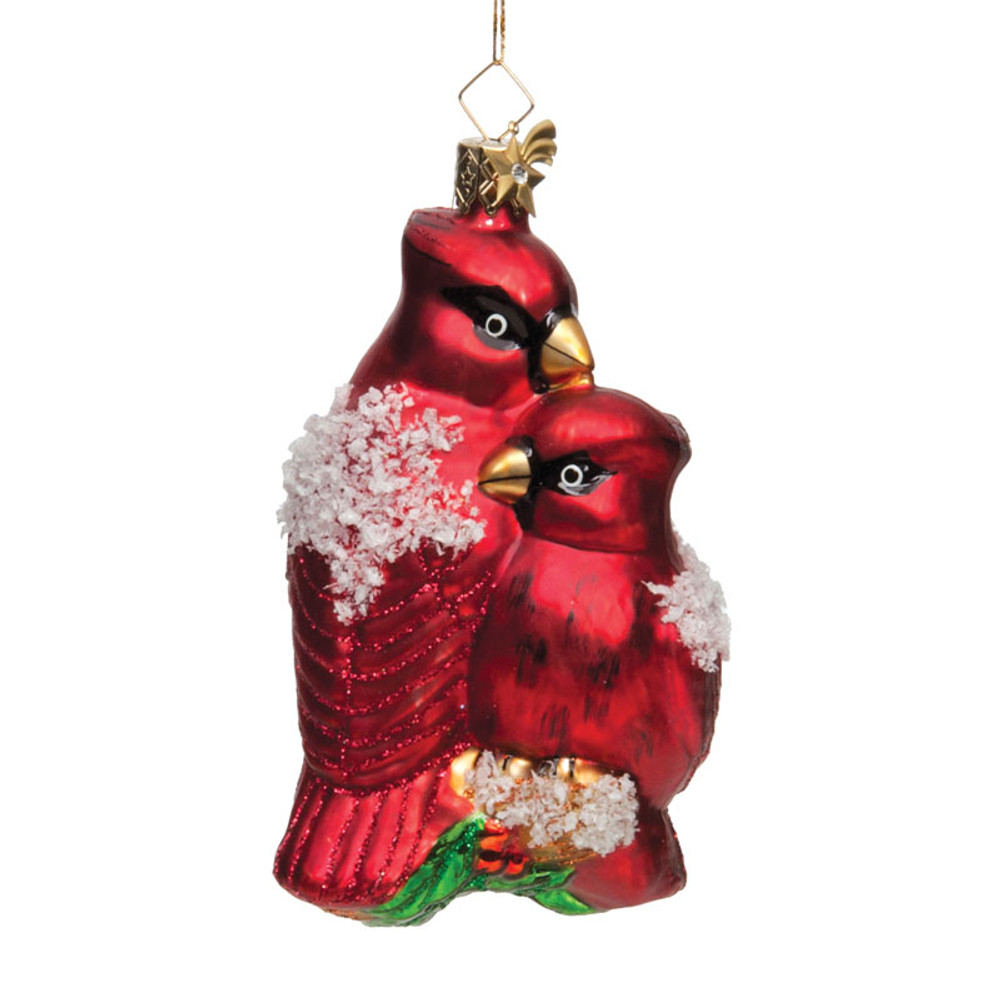 Cardinals Glass Ornament