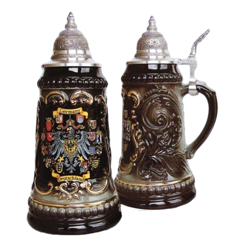 German Crests Beer Stein
