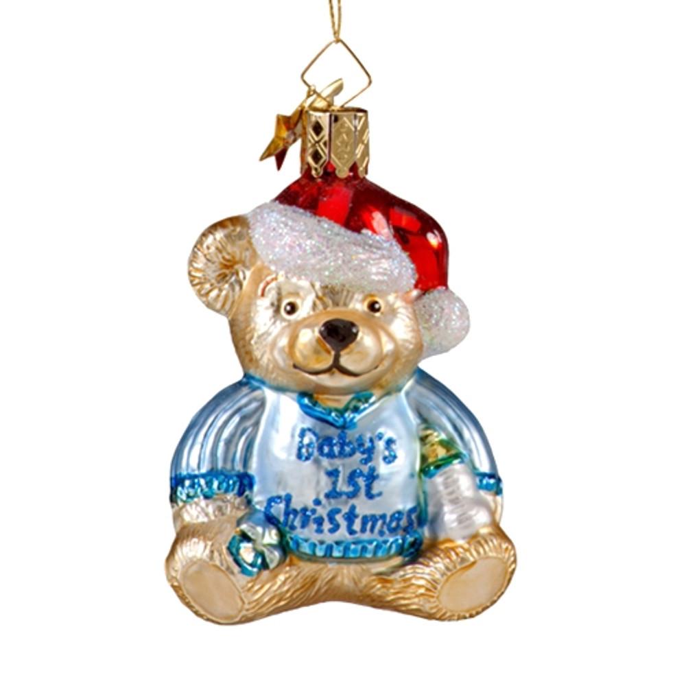 Baby's First Christmas Bear - Boy