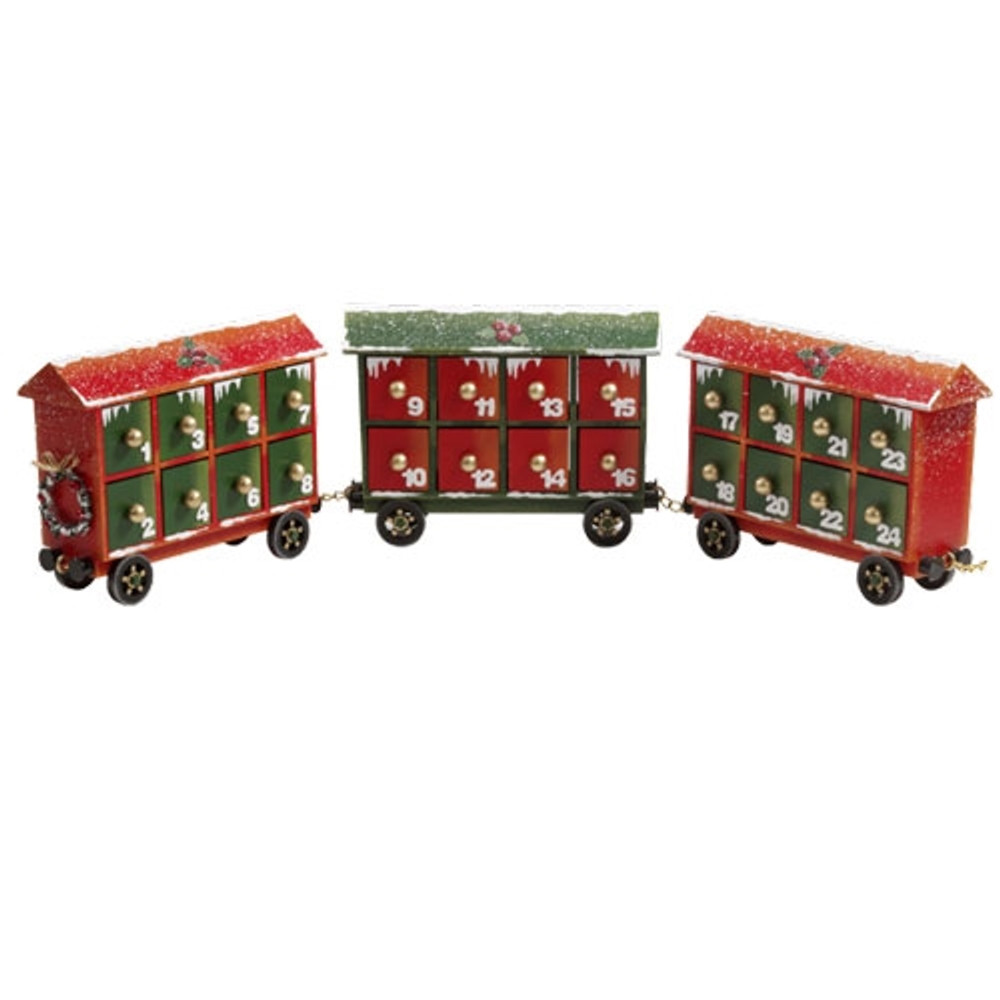 Advent Train Cars for Christmas Express