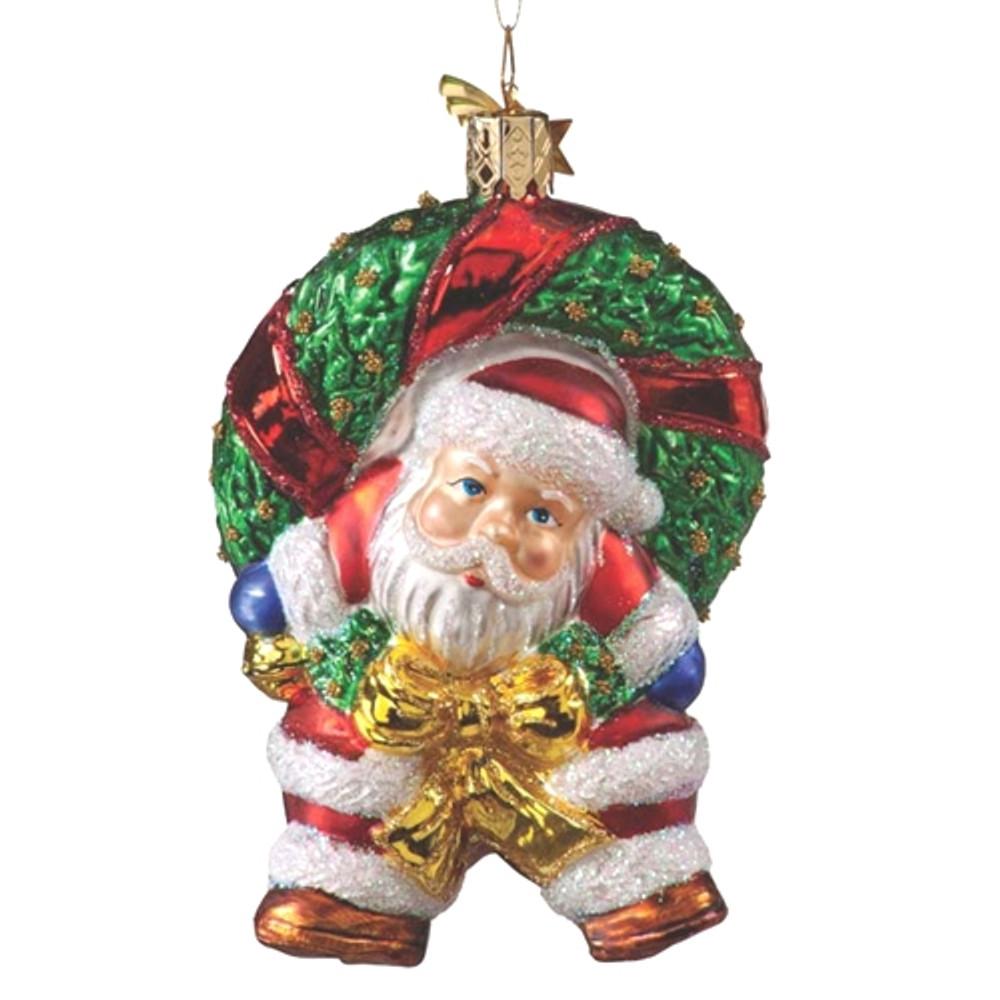 Santa in Wreath