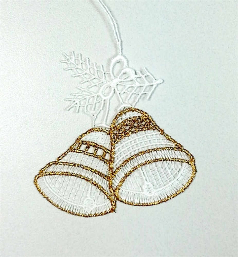 Gold Bells Linen Ornament