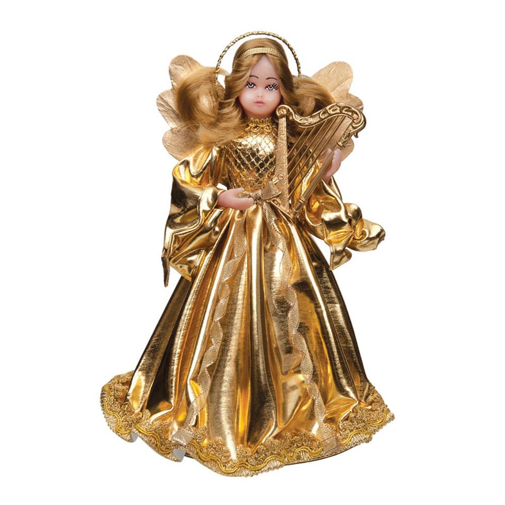 Gold Wax Angel with Harp