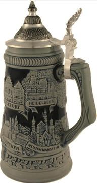 German Towns Beer Stein