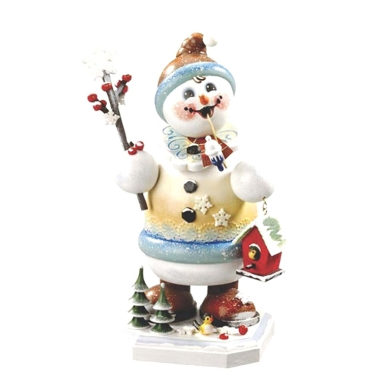 Snowman Holding Birdhouse