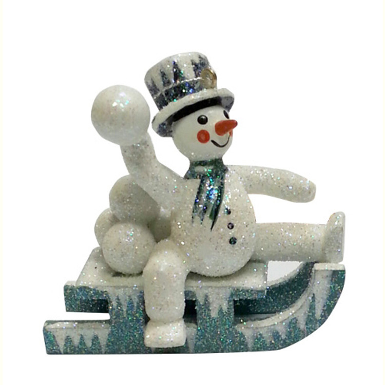 Frosty Snowman on Sled