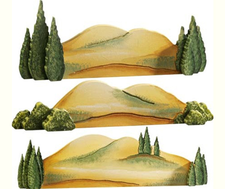 Hilly Landscape (set of 3)