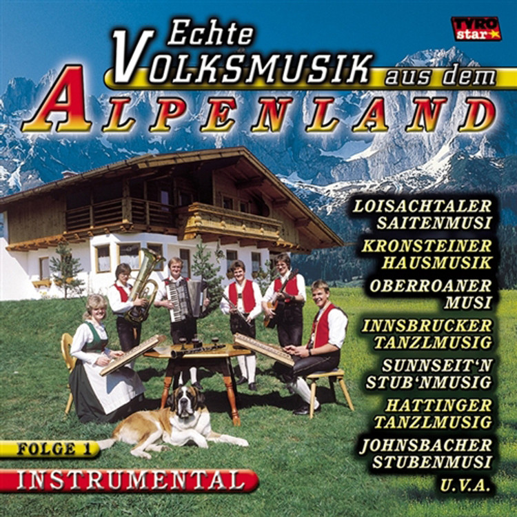 Real Folk Music From the Alps, Music CD