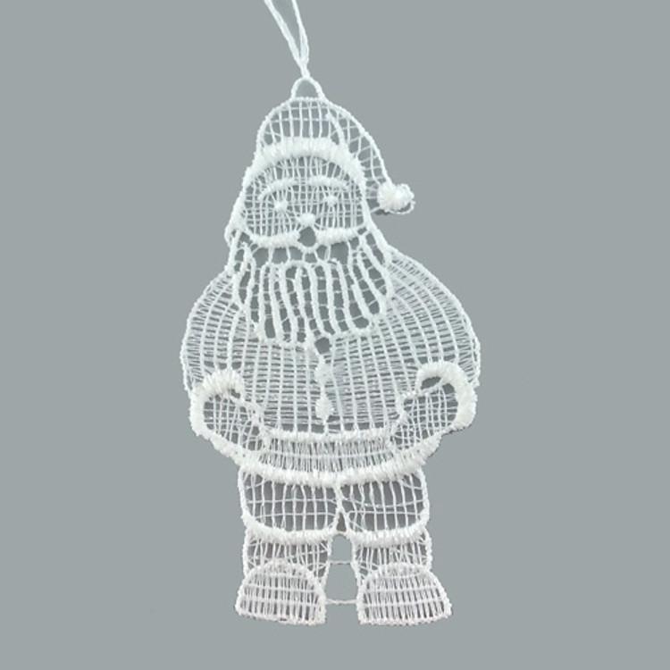 Santa Linen Ornament