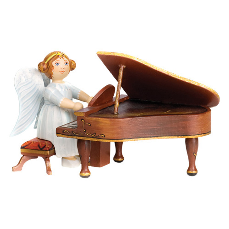 White Dress Angel with Piano