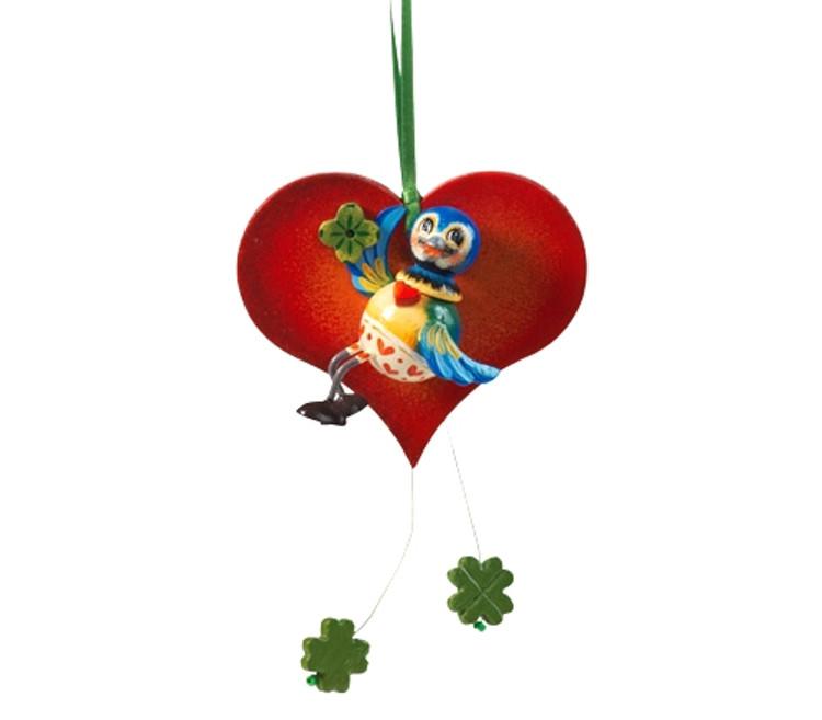 Bluebird on a Heart