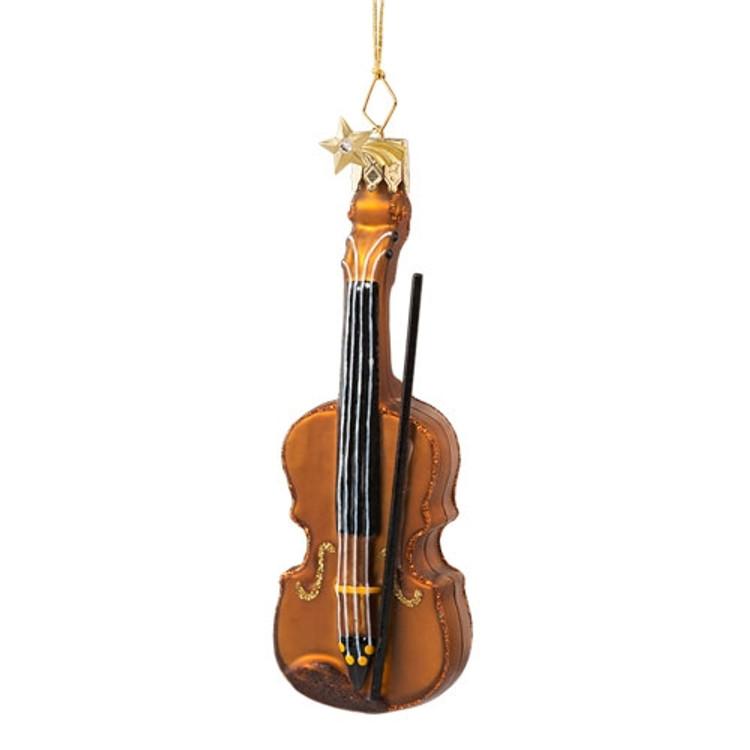 Violin Glass Ornament