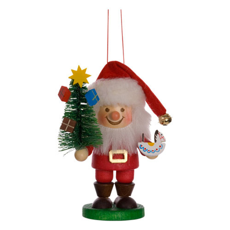 Santa Claus Holding Tree
