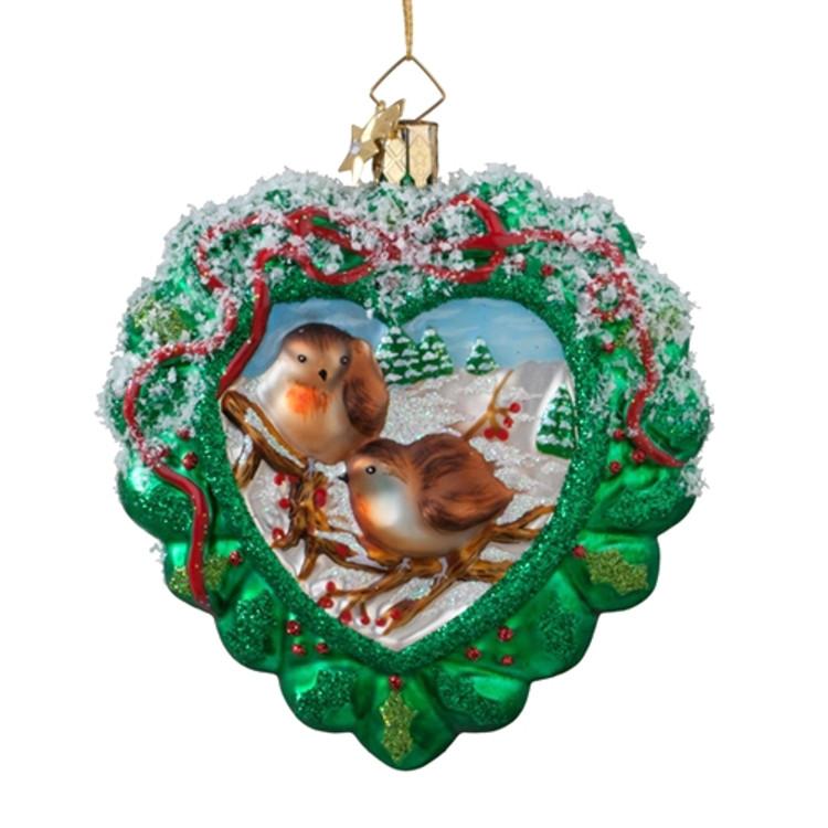Heart Wreath with Birds