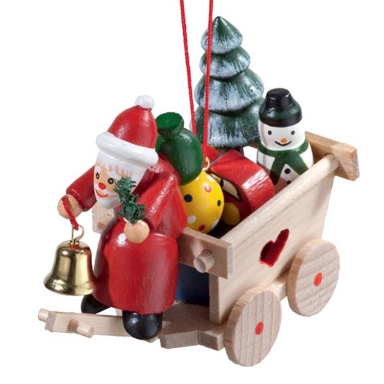 Cart with Santa