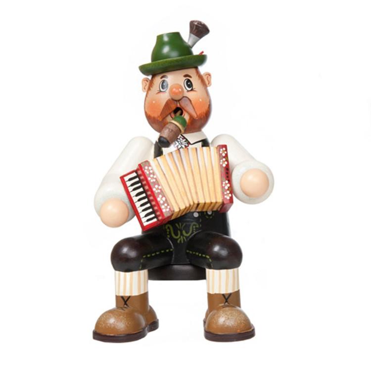 Sitting Bavarian Musician